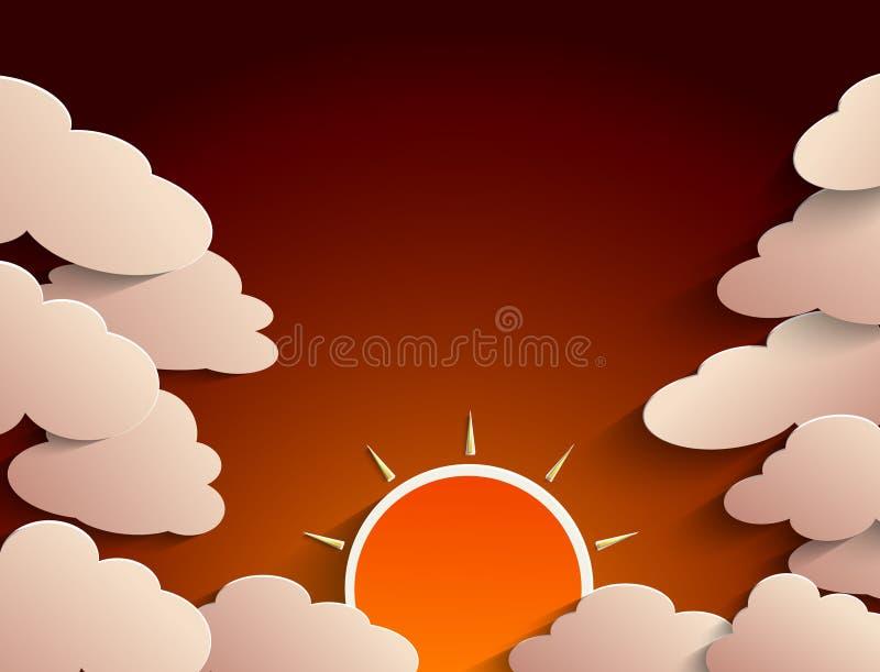 Sun och oklarheter vektor illustrationer
