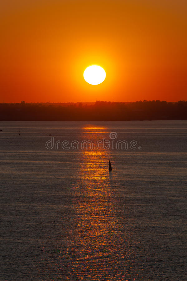 Download The sun over the horizon stock image. Image of color - 26792953