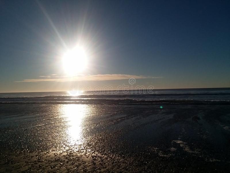 Sun over Pacific Ocean royalty free stock image