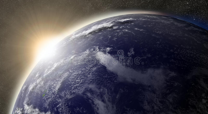 Download Sun over Pacific ocean stock illustration. Illustration of atmosphere - 37427046