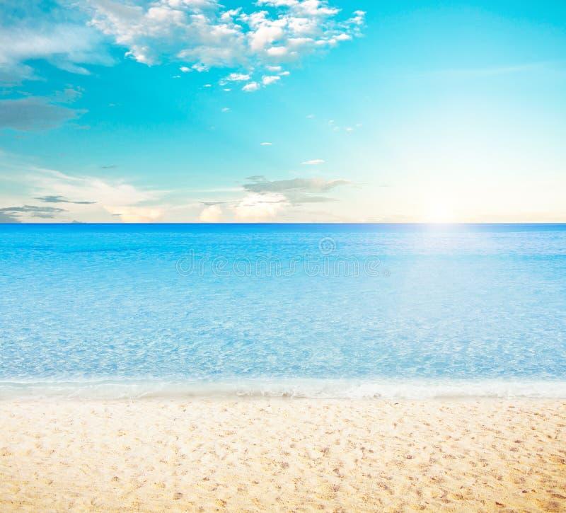 Sun Over Tropical Beach Stock Image. Image Of Coastline