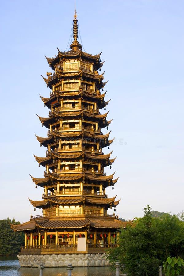 Sun Pagoda, Guilin, China stock image