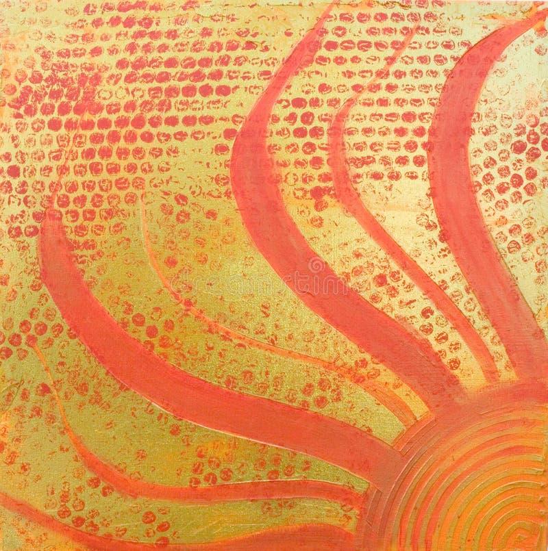 Sun painting royalty free illustration