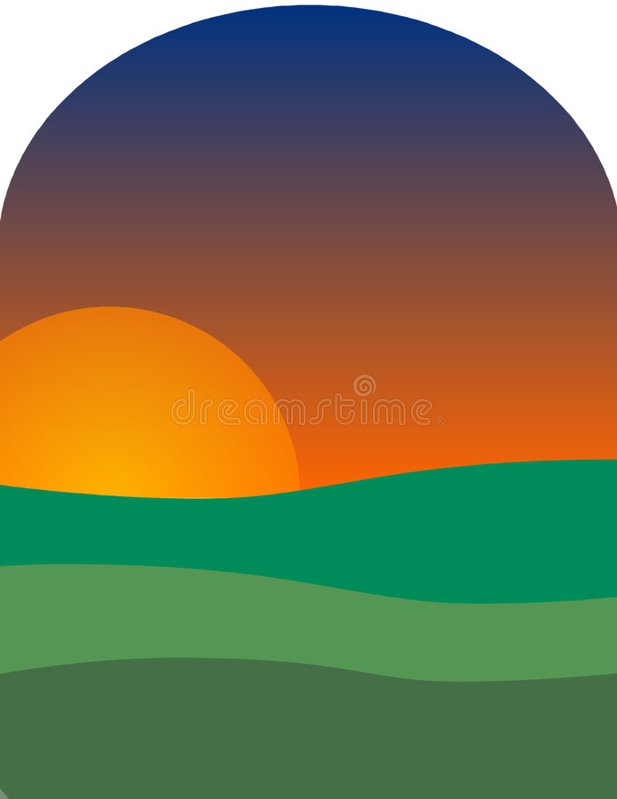Download Sun para baixo ilustração stock. Ilustração de dusk, sundown - 63999