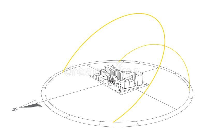 Sun Path illustration stock vector. Illustration of shadows - 18273849