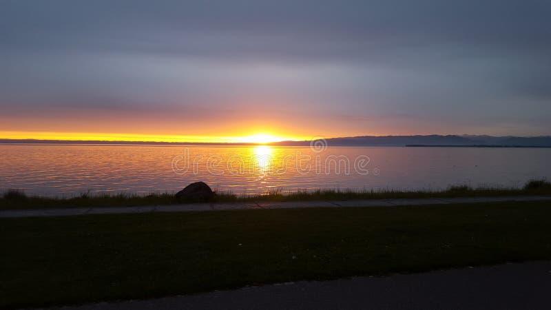 Sun pendant le début de la matinée photo libre de droits