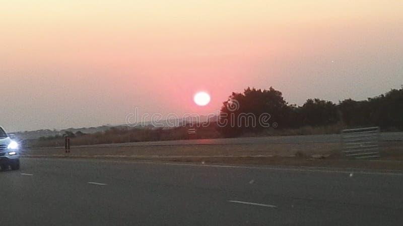 Sun a placé en Afrique du Sud photo stock