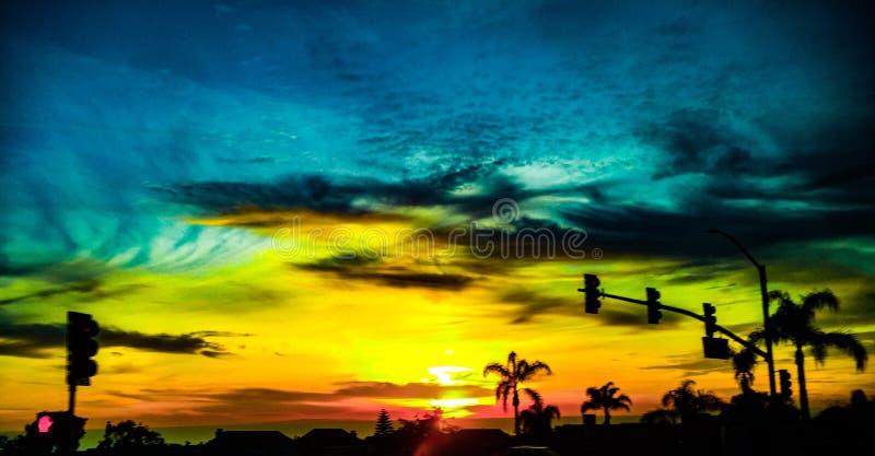 Sun a placé en Californie images libres de droits