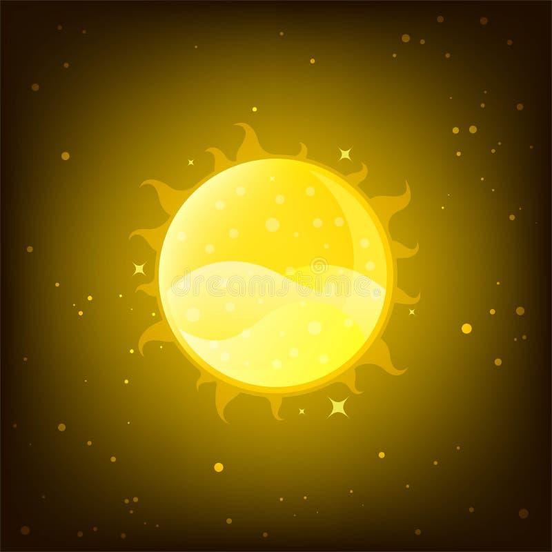 Sun, planète dans le système solaire illustration de vecteur
