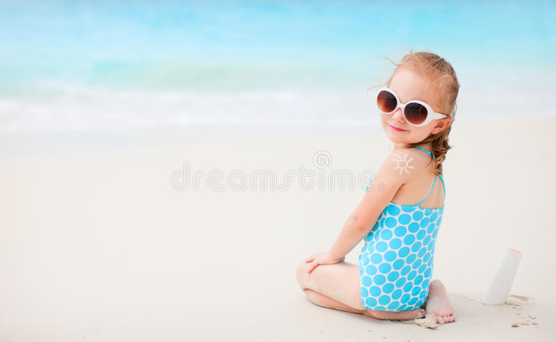 Download Sun protection stock image. Image of adorable, back, suncream - 25109017