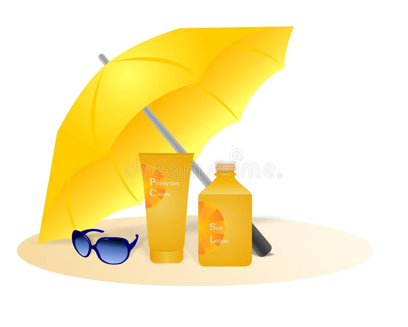 Sun protection, cdr vector royalty free illustration