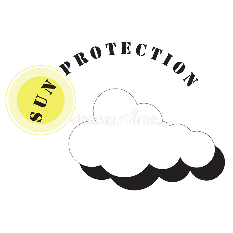 Sun Protection Symbol royalty free stock photography