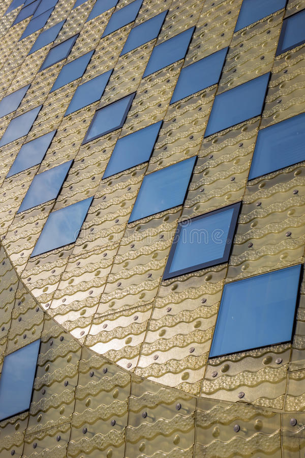 Sun que refleja en el ayuntamiento de Hardenberg fotografía de archivo