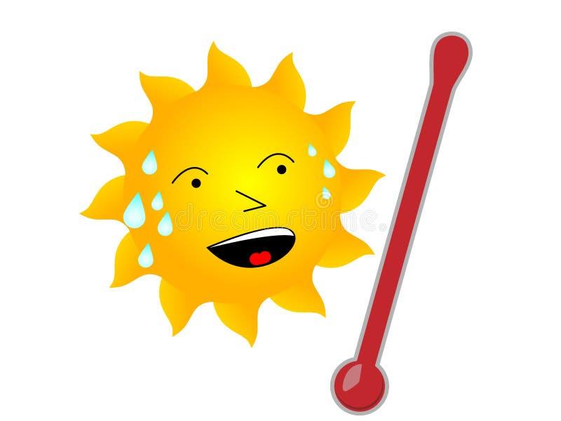 Sun quente ilustração stock