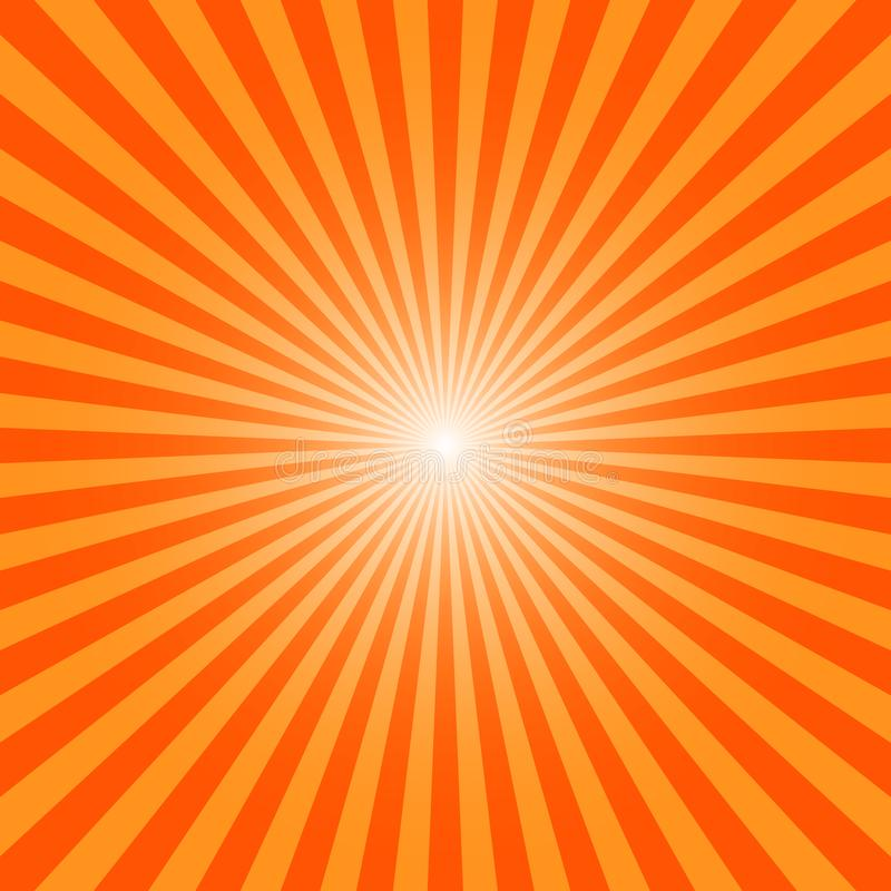 Sun Ray Burst royalty-vrije illustratie