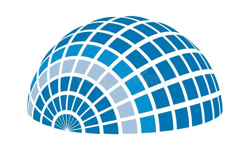 Sun Ray Dome Logo Element Illustration illustration de vecteur