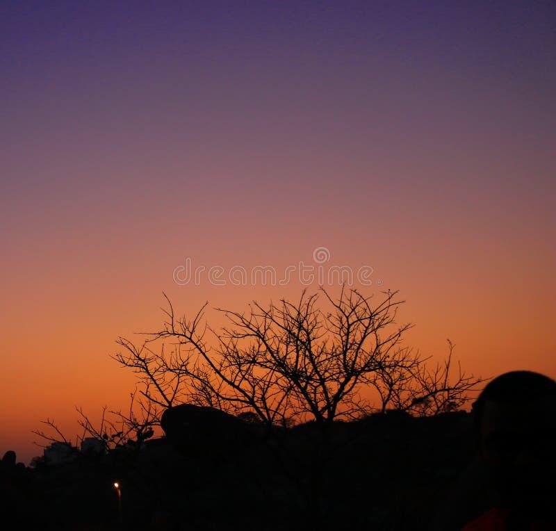 Sun rayonne le paysage photo stock
