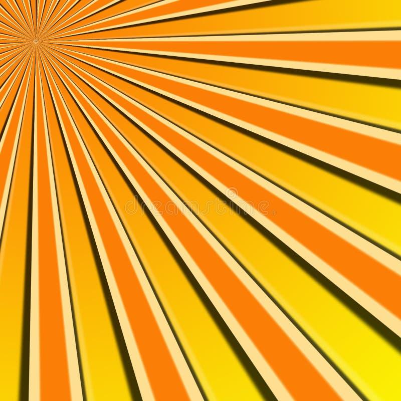 Sun rays Abbildung lizenzfreie abbildung