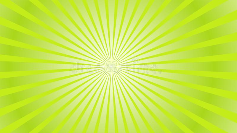 Sun rays background. Green radiate sun beam burst effect. Sunbeam light flash boom. Template starburst poster. Sunlight royalty free illustration