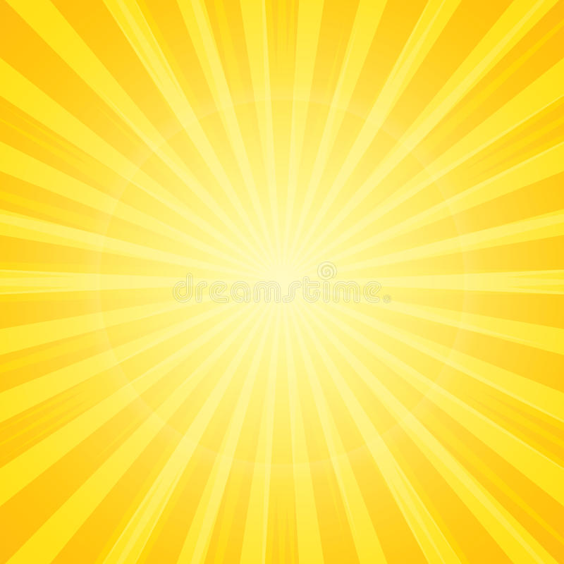 Sun with rays background royalty free illustration