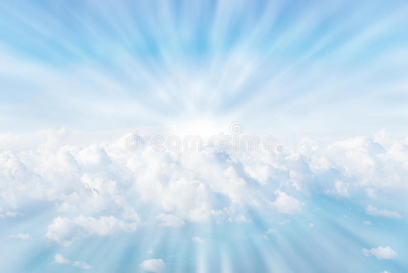 Download Sun rays in the clouds stock image. Image of weather - 12713059