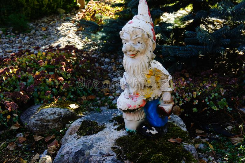 Gnome in the garden. royalty free stock photography