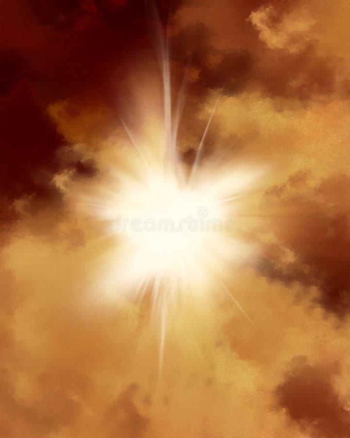 Sun Rays la carta pergamena illustrazione di stock