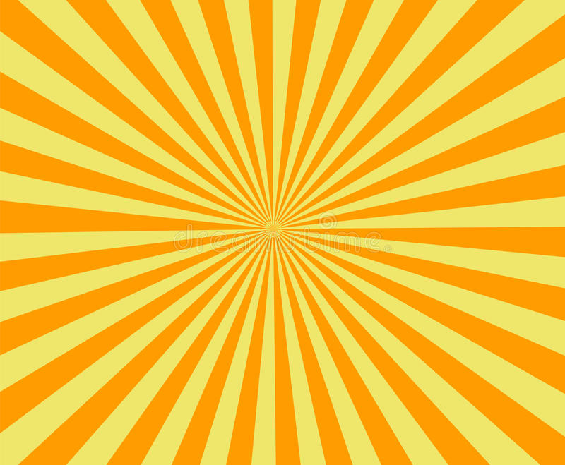 Sun rays, old paper with stains - Vector royalty free illustration