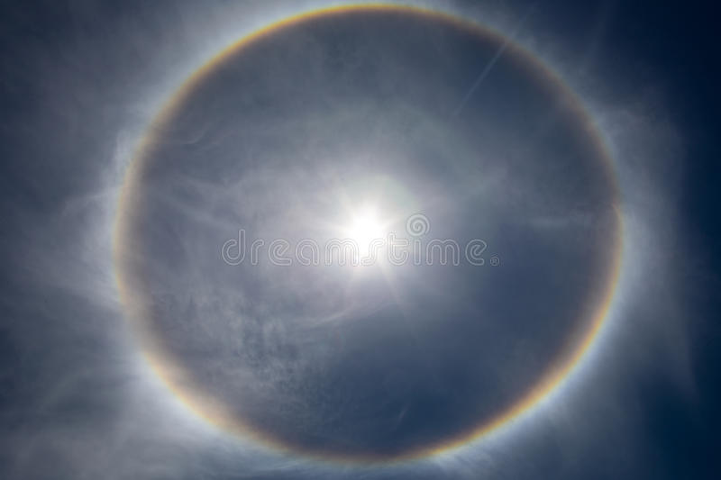 The sun with rays royalty free stock photos