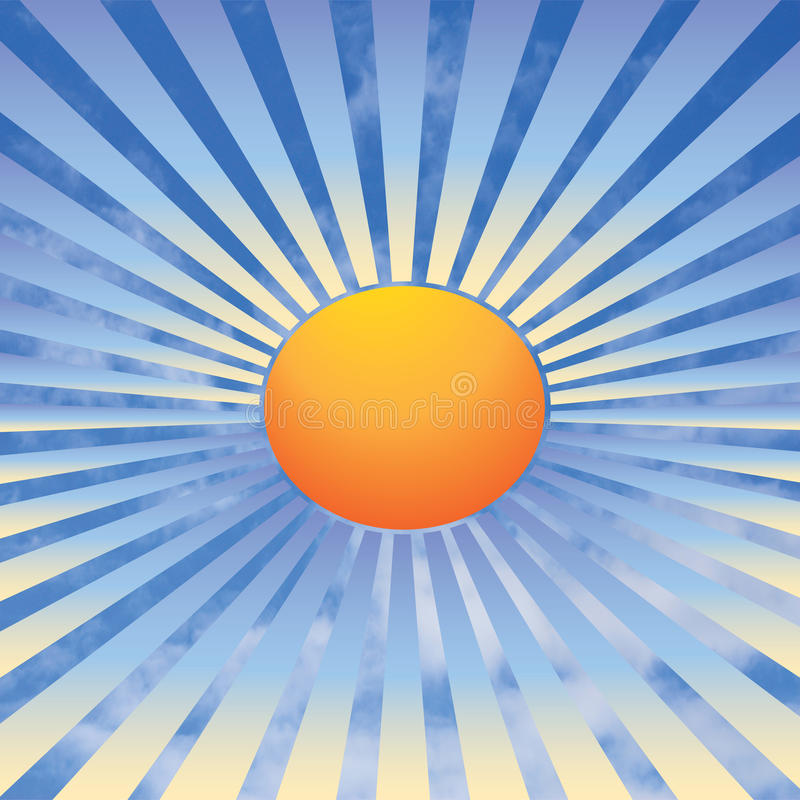 Download Sun rays and sky stock illustration. Image of circle - 28120188