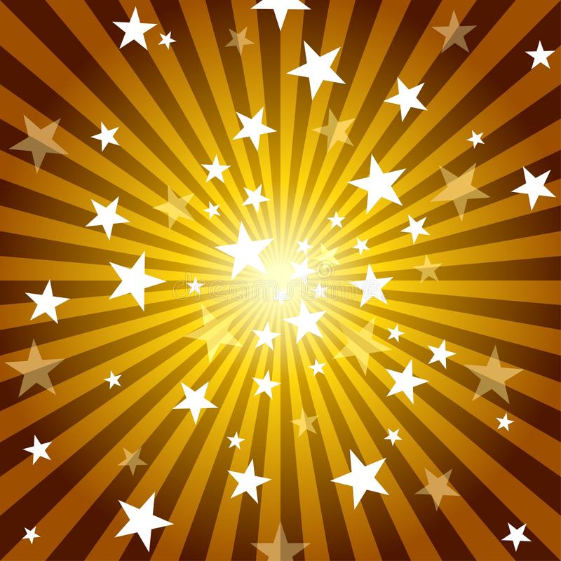 Sun Rays and Stars. Abstract Background Illustration, Vector vector illustration