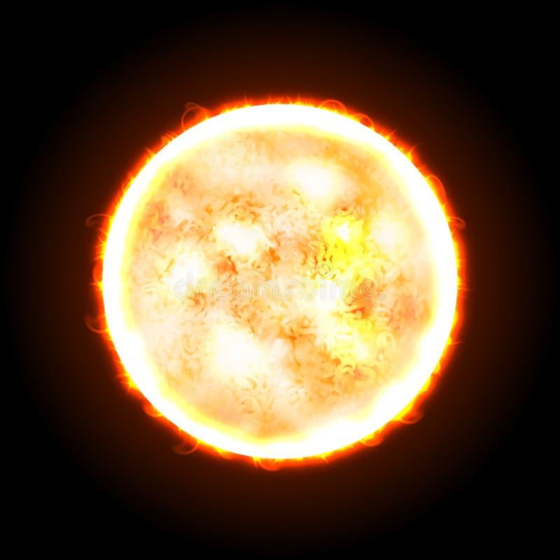 Sun realístico Conceito do macarronete imediato A textura do macarronete usou-se Ilustração do vetor Malha e misturas do inclinaç ilustração do vetor