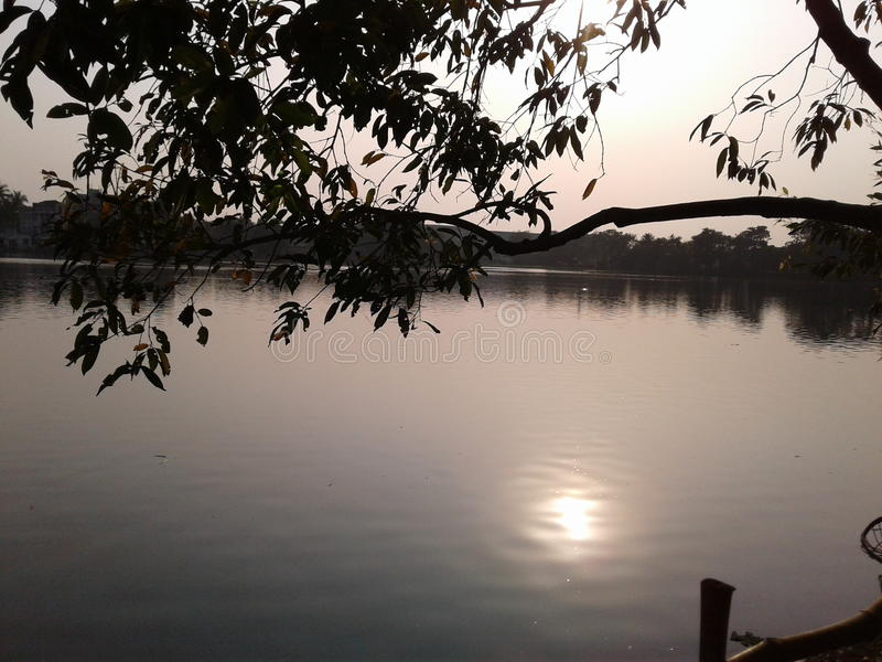 Sun reflect. A beautiful sun reflect stock images