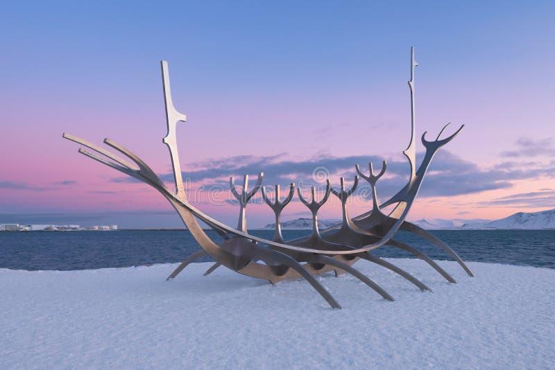 Sun-Reisendeskulptur lizenzfreies stockbild