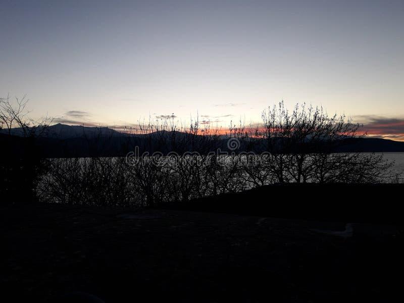 Sun rise colour royalty free stock image