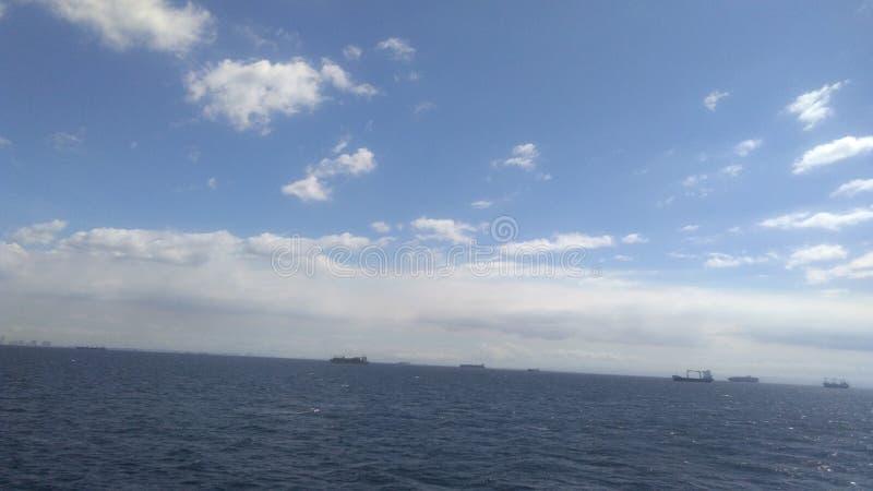 Sun rise sea voyage trip royalty free stock photography