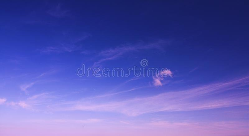 Sun rise sky with clouds royalty free stock image
