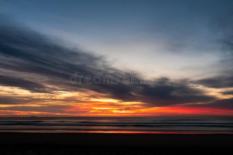 Sunrise at a beach royalty free stock photography