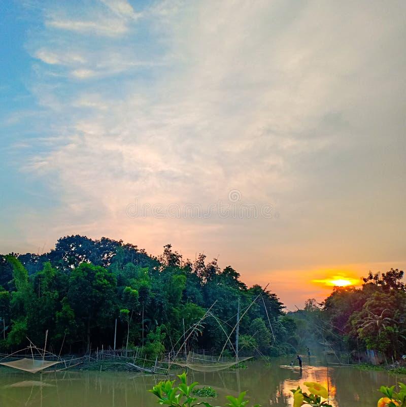 Sun Rising Au Bangladesh photographie stock