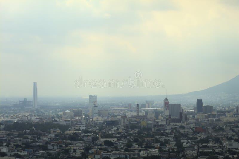 Sun rising on a cloudy day in Monterrey stock photos