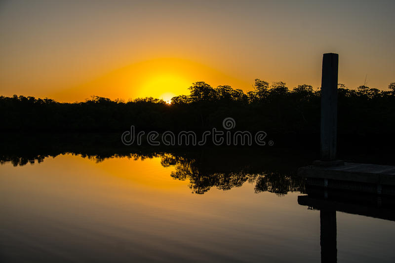 Sunrise over the Mangroves royalty free stock photos