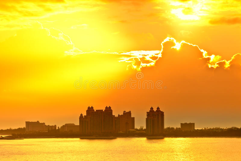 Download Sun rising over bahamas stock image. Image of nature - 30042603