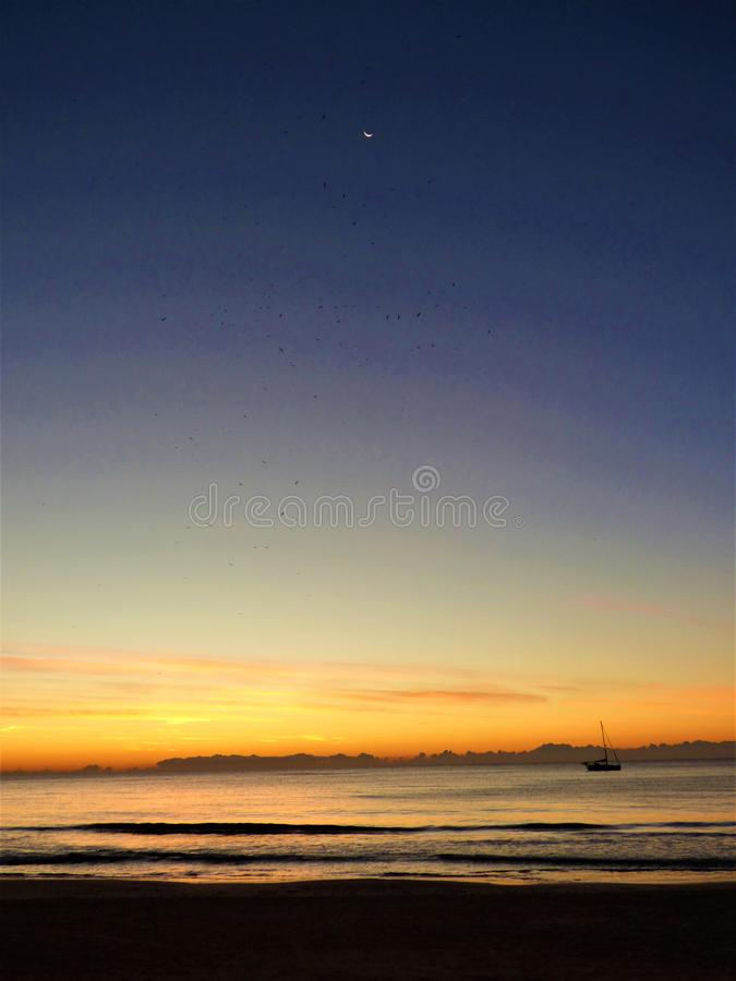 Sunrise in Alicante Spain royalty free stock photos