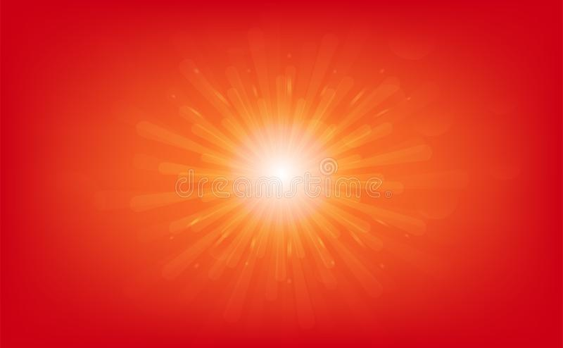 Sun rising, Stars burst, light rays shiny effect, abstract background vector illustration royalty free illustration