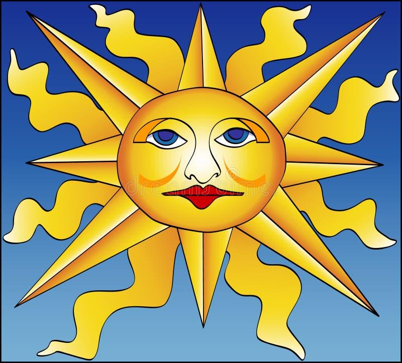 Sun romano ilustração do vetor