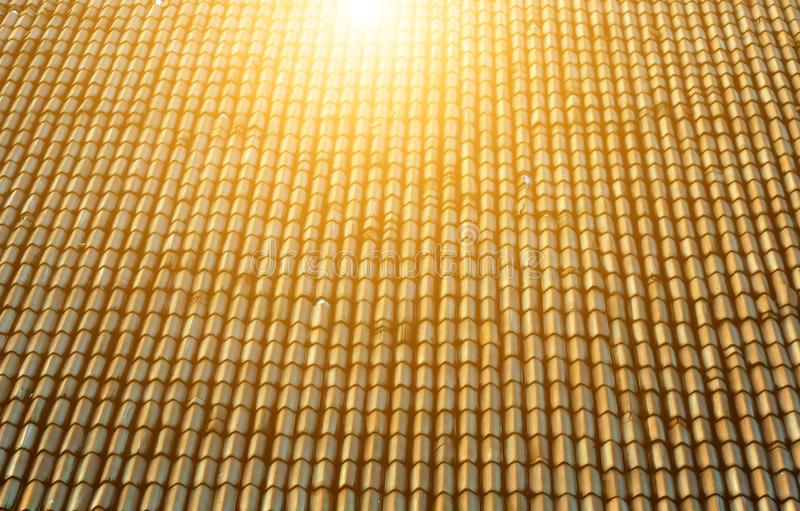 sun roof with ceramic tiles stock images