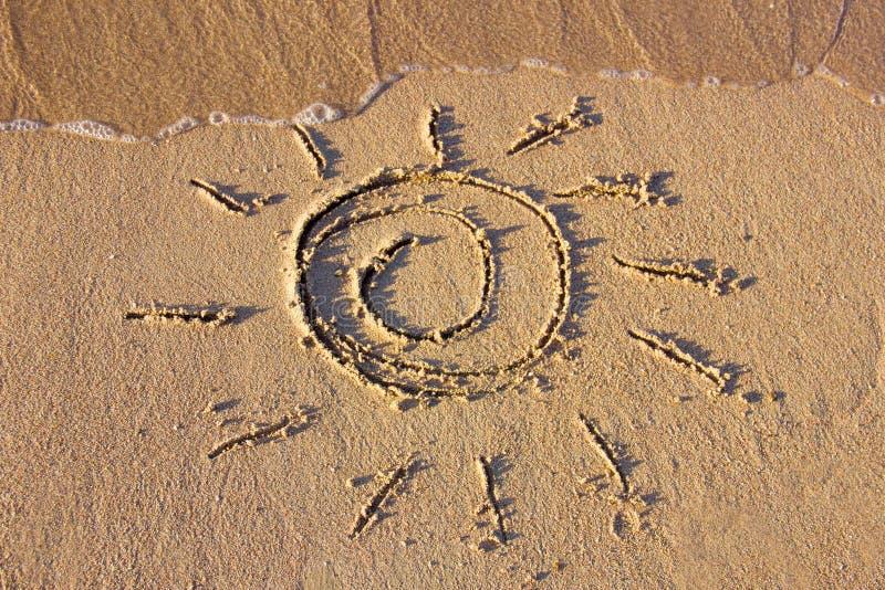 The sun on the sand beach