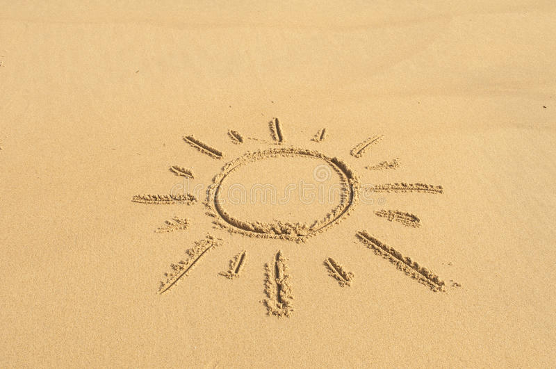 Download Sun in the Sand stock photo. Image of beach, writing - 35282224