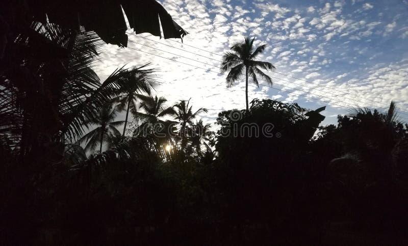 Sun se lève au Sri Lanka photographie stock