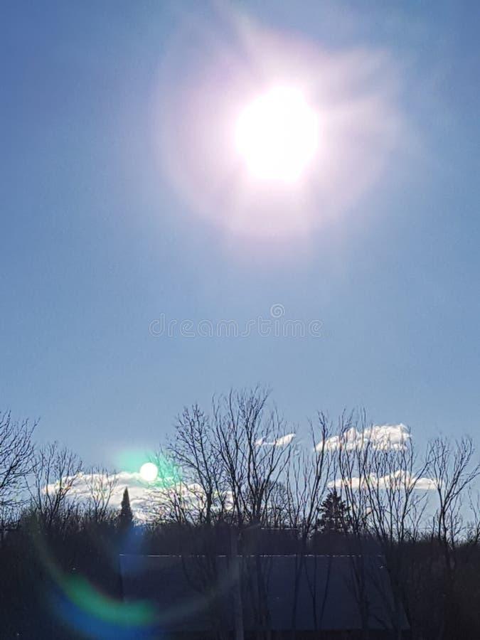 Sun se reflètent photos stock